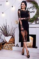 Платье Новогоднее Ажурная роскошь чёрное