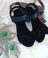 """Сандалии с бантом """"Флорин"""" - распродажа модели черный, 23.5 см"""
