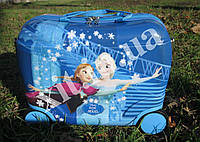 Детский чемодан-каталка  синий