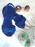 "Сандалии с бантом ""Флорин"" - распродажа модели синий, 23.5 см"