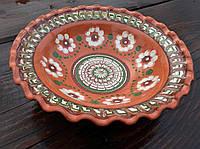 Тарелка глиняная ручная работа