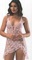 """Пеньюар женский """"Allure"""" розовый, XL"""
