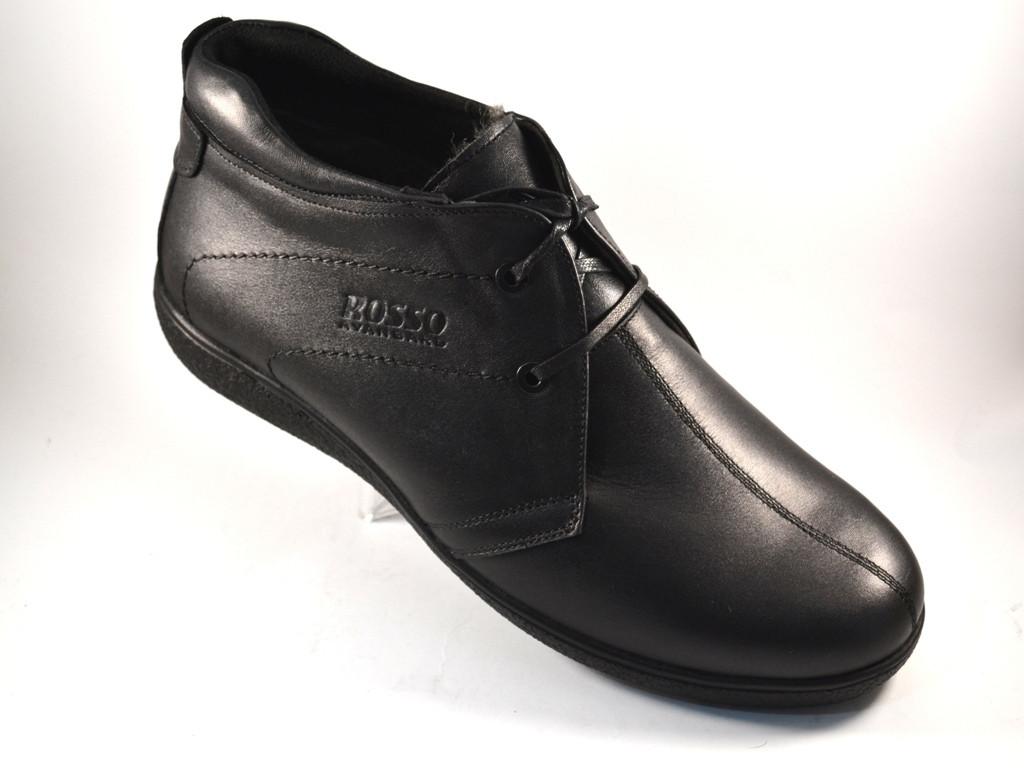 Кожаные зимние мужские ботинки Rosso Avangard. Berto черные