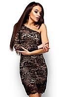 Платье гипюровое с одним рукавом Самтер