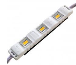 Светодиодный модуль М2 5730-3 led 1,5W 12V, 3000K теплый белый закрытый с линзой