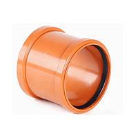 Муфта соединительная для наружной канализации 110 мм Мпласт