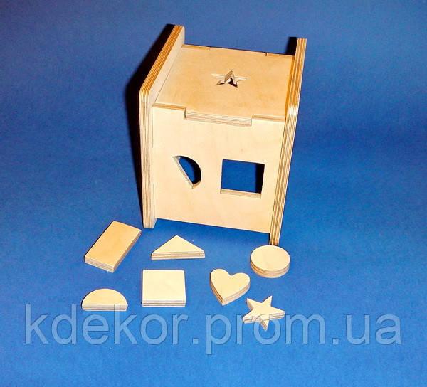 Развивающая игрушка КУБ заготовка для декупажа и декора