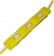 Светодиодный модуль М2 5730-3 led 1,5W 12V, желтый закрытый с линзой