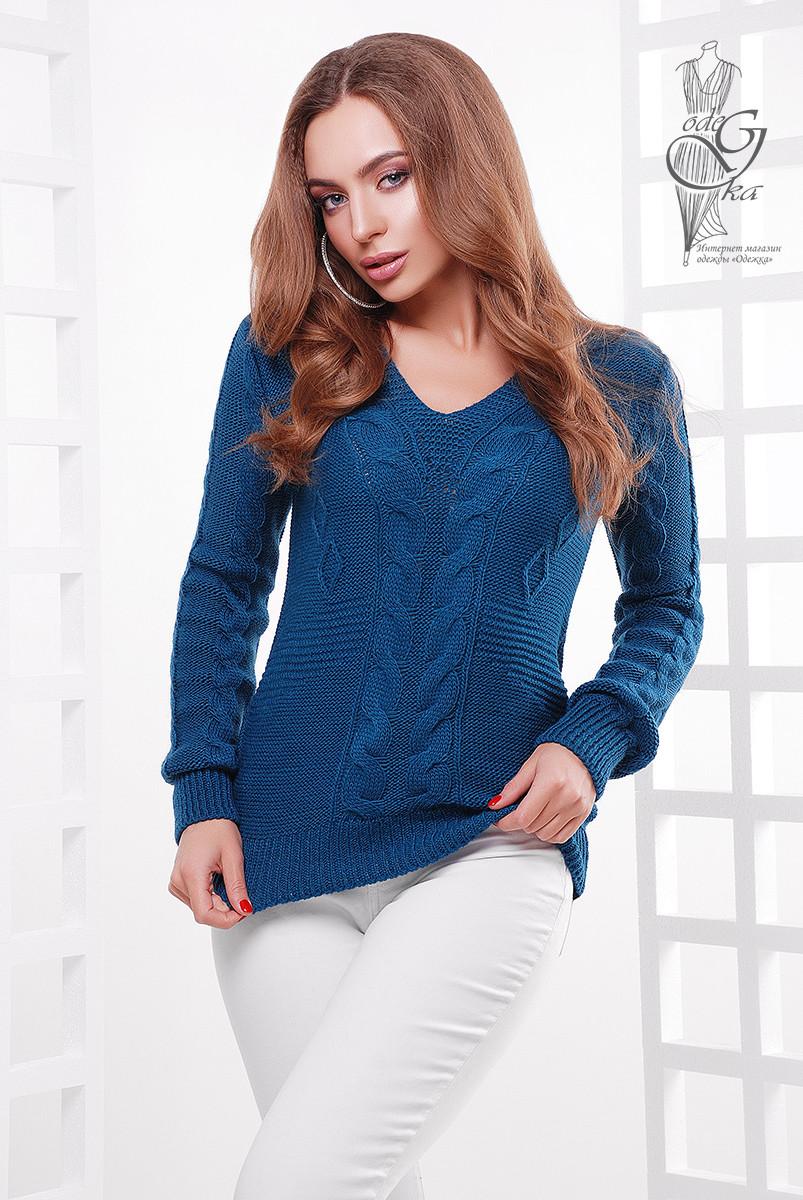 Красивые женские свитера Цветана-10 из шерстяной нити
