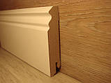Плинтус белый напольный МДФ фигурный 18,2х85х2400мм, фото 3