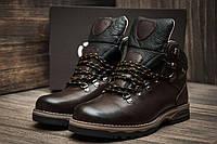 Мужские зимние ботинки Ecco Biom, на меху, коричневые натуральная кожа
