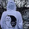 RipNDip black white Cat • Женская худи толстовка • Реальные фотки, фото 3