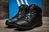 Зимние мужские кроссовки Adidas Terrex Fastshell черные кожа