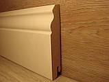 Плінтус підлоговий білий МДФ високий фігурний 18х100х2400мм, ламінована, фото 3