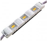 Светодиодный модуль М2 5730-3 led 1,5W 12V, 6500K белый закрытый с линзой