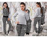 Утепленный, женский  спортивный  костюм  -  11079женская одежда в интернет магазине Украина
