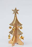 Елка новогодняя настольная деревянная высота 25 см