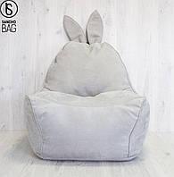 Бескаркасное кресло заяц