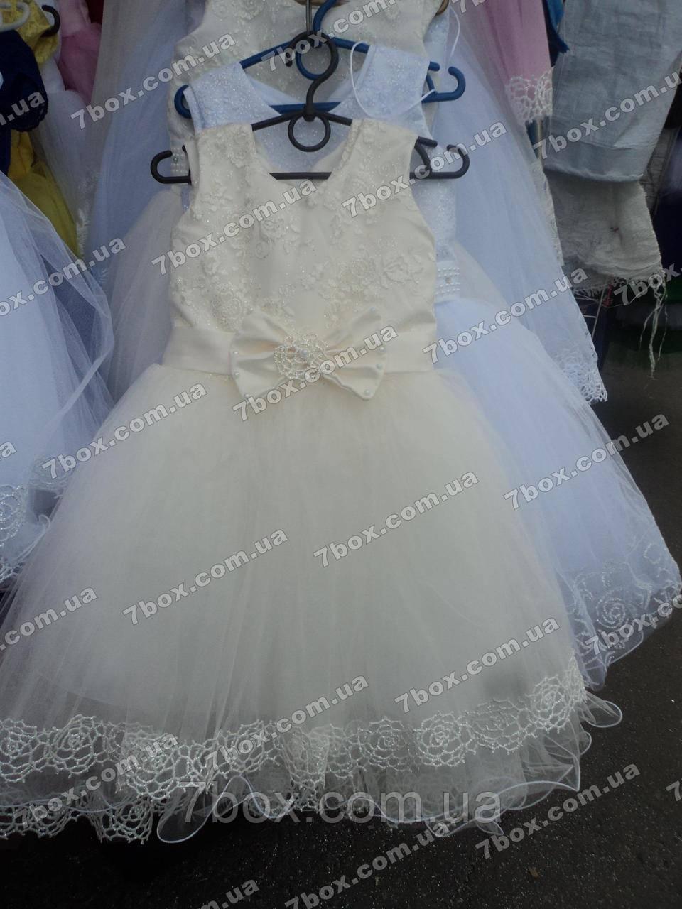 Дитяче бальне плаття Принадність (молочне) Вік 4-5 років.