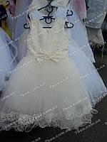 Детское платье бальное Прелесть (молочное) Возраст 4-5 лет.