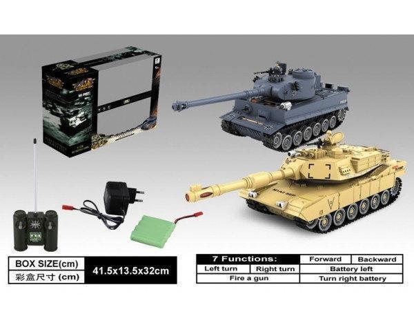 Танковый бой на радиоуправлении M1A2 vs German Tiger 99822