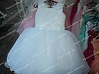 Детское платье бальное Мерцание снега (белое) Возраст 3,5-5 лет, фото 1