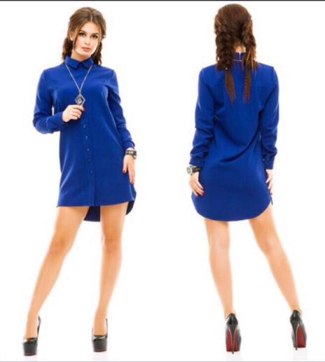 Платье-Рубашка женская крупный опт