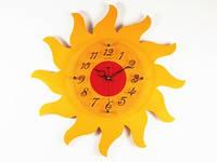 Часы настенные для ребенка Солнце