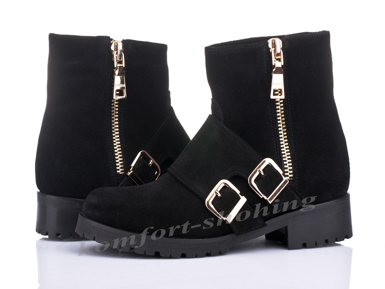Женские замшевые  ботинки V 983