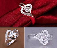 Элегантное женское кольцо с цирконом р 17.5