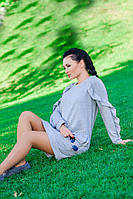 """Платье с длинным рукавом  """"Ангелина"""", серый серый, 52"""