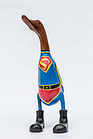 Статуэтка из корня бамбука Утка супермен высота 40 см