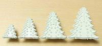 Набор форм оттисков елки из 8 шт