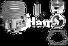 Цилиндр в сборе (поршневая)  бензопилы Урал