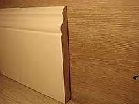 Плинтус для пола МДФ Белый высокий под покраску 14,2х140х2400мм