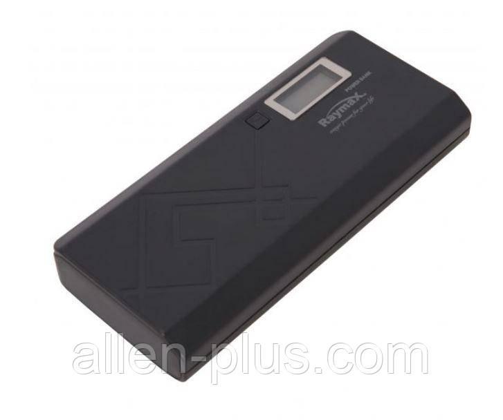 Power Bank Raymax 11000 mAh з дисплеєм, black (Повербанк, 2 USB, ліхтарик, РЕАЛЬНА ЄМНІСТЬ!)