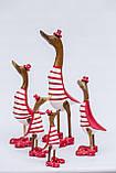 Утка красно-белая из корня бамбука высота 25 см, фото 2