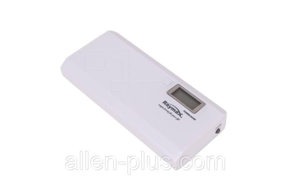 Power Bank Raymax 11000 mAh з дисплеєм, white (Повербанк, 2 USB, ліхтарик, РЕАЛЬНА ЄМНІСТЬ!)