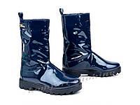 Женские лаковые  ботинки V 975