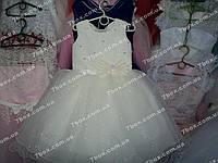 Детское платье бальное Мерцание снега (молочное) Возраст 3.5-5лет, фото 1