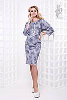 Ангоровое женское платье Фузи больших размеров