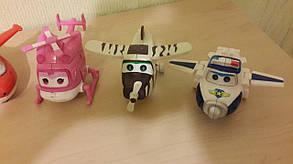 Набор игрушек трансформеров 6 шт Super Wings (Супер крылья) 1225. Светятся глаза, фото 3