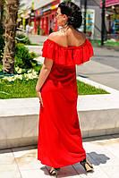 """Длинное красное платье """"Венера батал"""""""