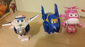 Набор игрушек трансформеров 6 шт Super Wings (Супер крылья) 1226. Светятся глаза, фото 2