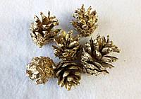 Набор из 6-ти шишек для  творчества шишки золотые. Новогодние украшения