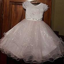 Детское изумительно красивое новогоднее платье из органзы и гипюра