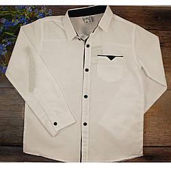 Белая рубашка для мальчика Турция Размеры: 128,134,140,146,152 см (5863)