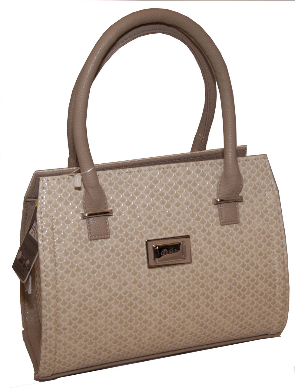 a66e05e49c22 Бежевая каркасная женская сумка B.Elit с текстурой рептилии -  Интернет-магазин