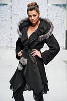 Пальто с натуральным мехом Гоа