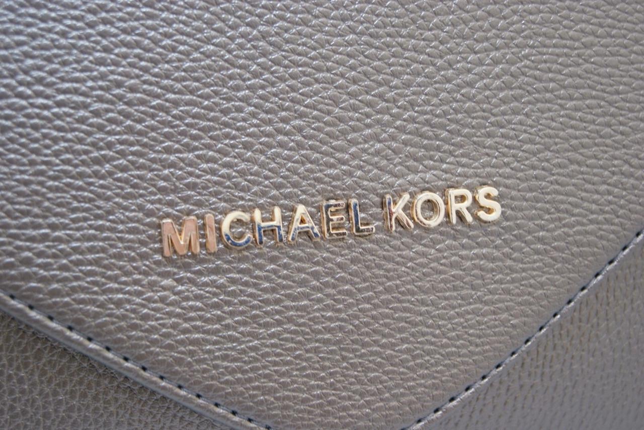 ef0781dc3d11 Женская сумка-клатч Michael Kors, цвет серый металлик Майкл Корс MK, фото 2  ...